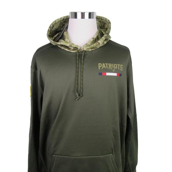 Nike New England Patriots Camo Hoodie Size XXL d93e71675